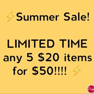 SUMMER SALE!!! LIMITED TIME!!⚡️